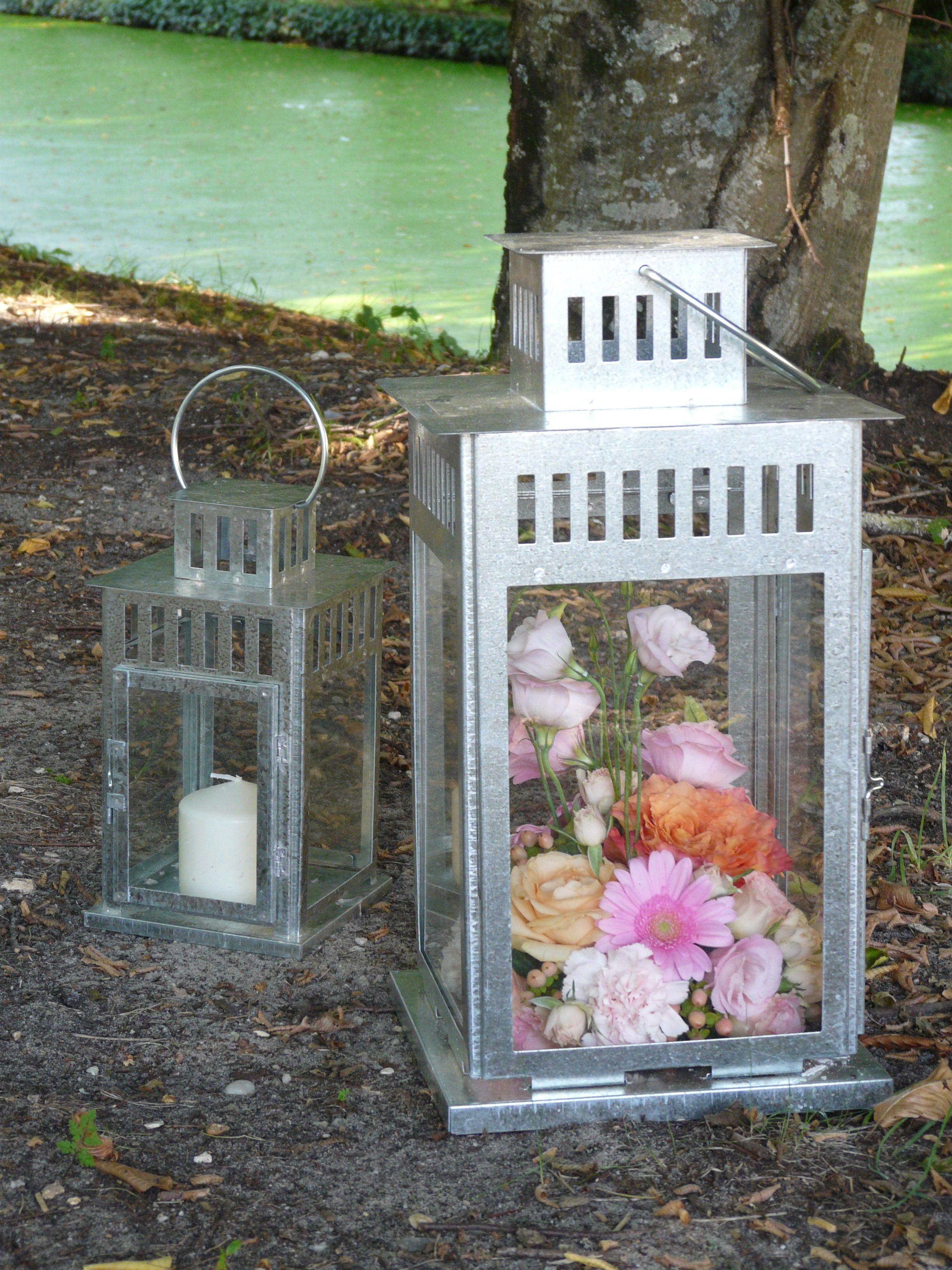 Lanterne fleurie mariage bougie fleur lighting pinterest bougie fleur lanterne et fleuri - Lanterne exterieure bougie ...