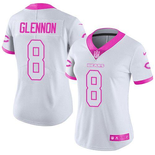 17de074e8cc ... wholesale jersey nike bears 8 mike glennon whitepink womens stitched nfl  limited rush fashion jerseyandnfl bef9d