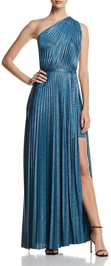 da6be748b7 Elie Tahari Mistry Pleated One-Shoulder Maxi Dress