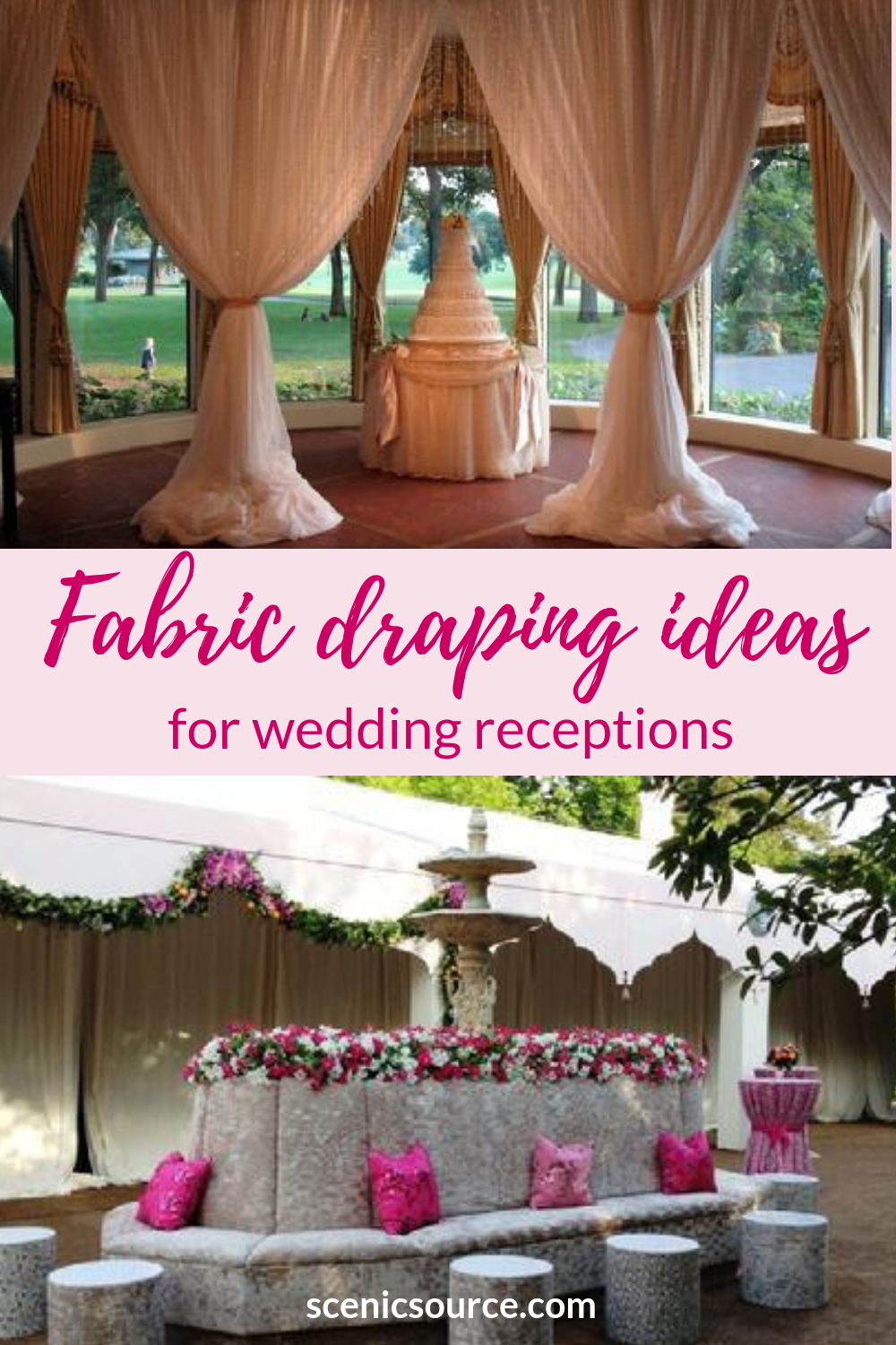 Elegant Fabric Walls And Ceiling Decorations For Cocktail