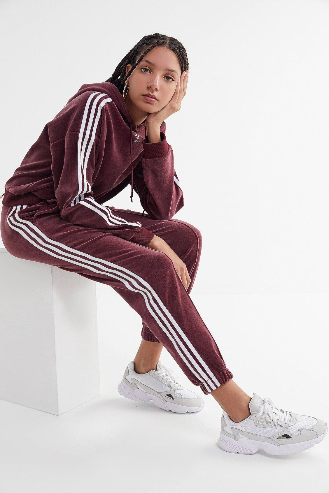 adidas Velvet 3 Stripes Track Pant in 2019  94d6747cc71