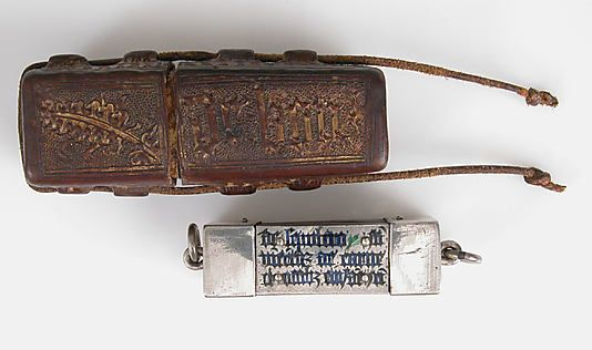 Portable Reliquary of Saint Vincent, c. 1400 with later terminals. French.