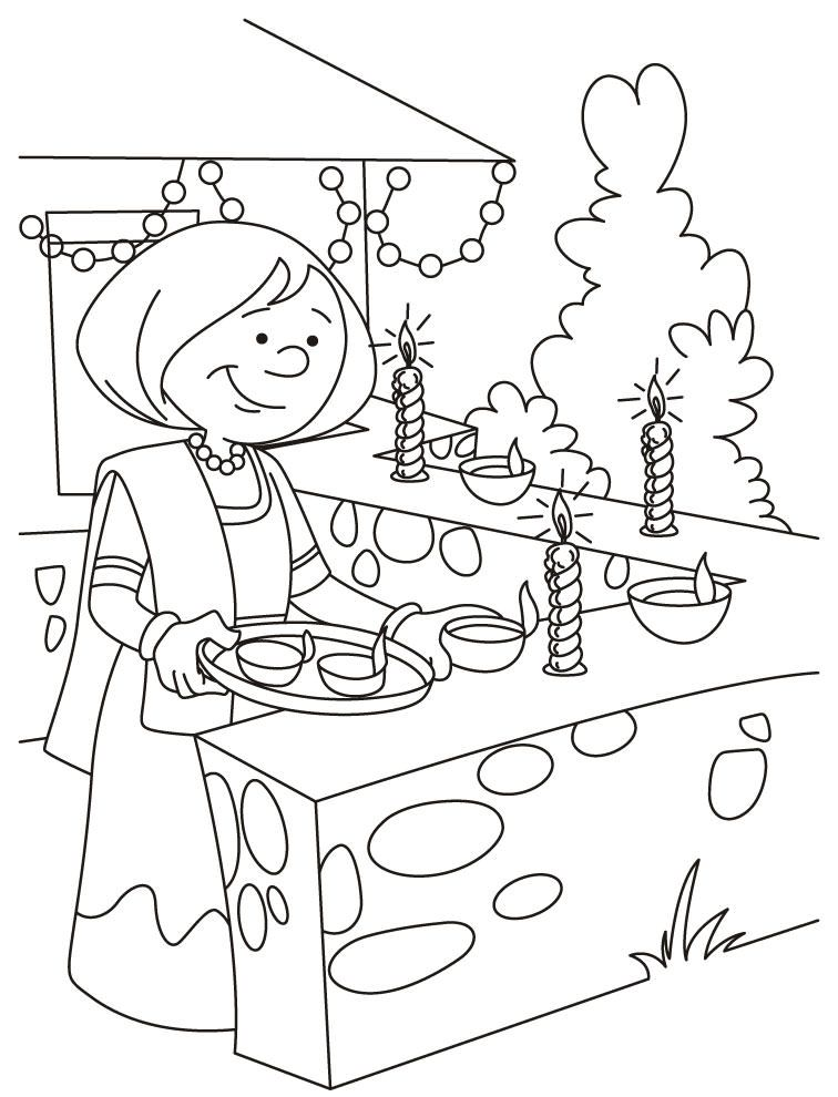 diwali-coloring-pages-5 | Animated diwali images | Pinterest