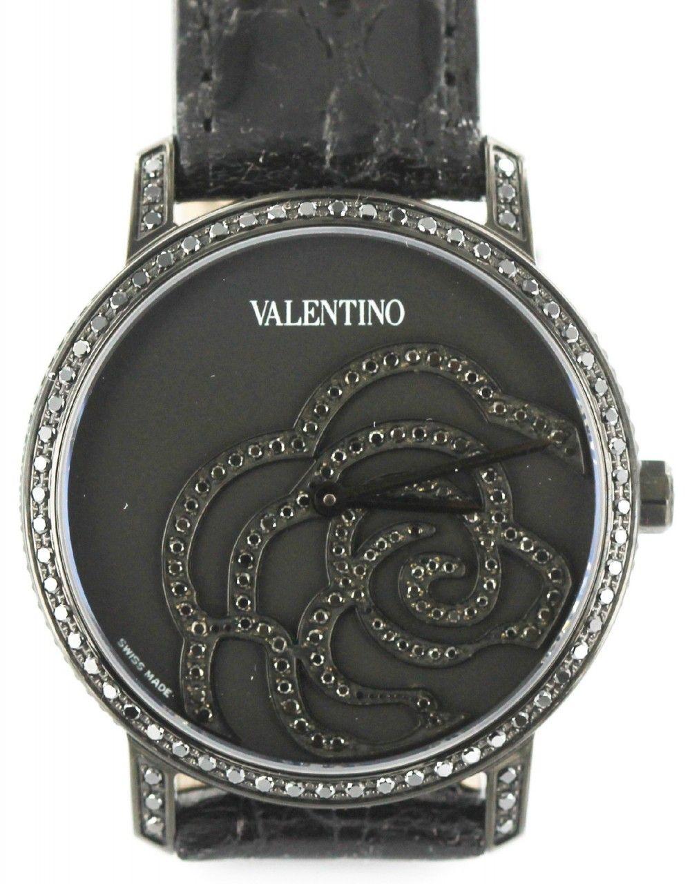 Luxstyle4u - Valentino Watches Crocodile Leather Rose Watch with Black Diamonds in Black - V41SBQ6709SSA09, $2,800.00 (http://www.luxstyle4u.com/valentino-watches-crocodile-leather-rose-watch-with-black-diamonds-in-black-v41sbq6709ssa09/)