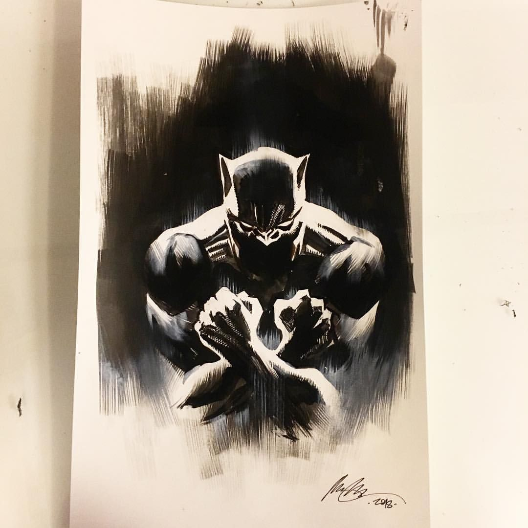 Black panther by rafael albuquerque