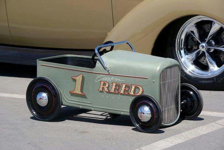 Cute pedal car...