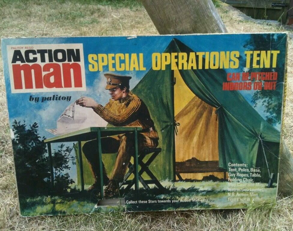 Action Man Vintage Original Special Operations Tente Pole