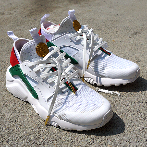 hot sale online 687f4 72752 sneaker fairy fetti dbiasi custom sneakers shoes nike huarache gucci gold  coin snake ghost white kicks leather laces  GoldCoins