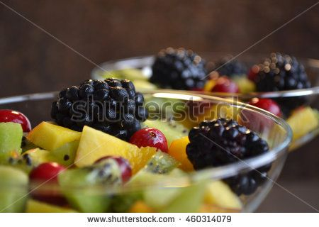 Fresh Fruit Salad  with Honey-Rum Dressing. Party In A Glass