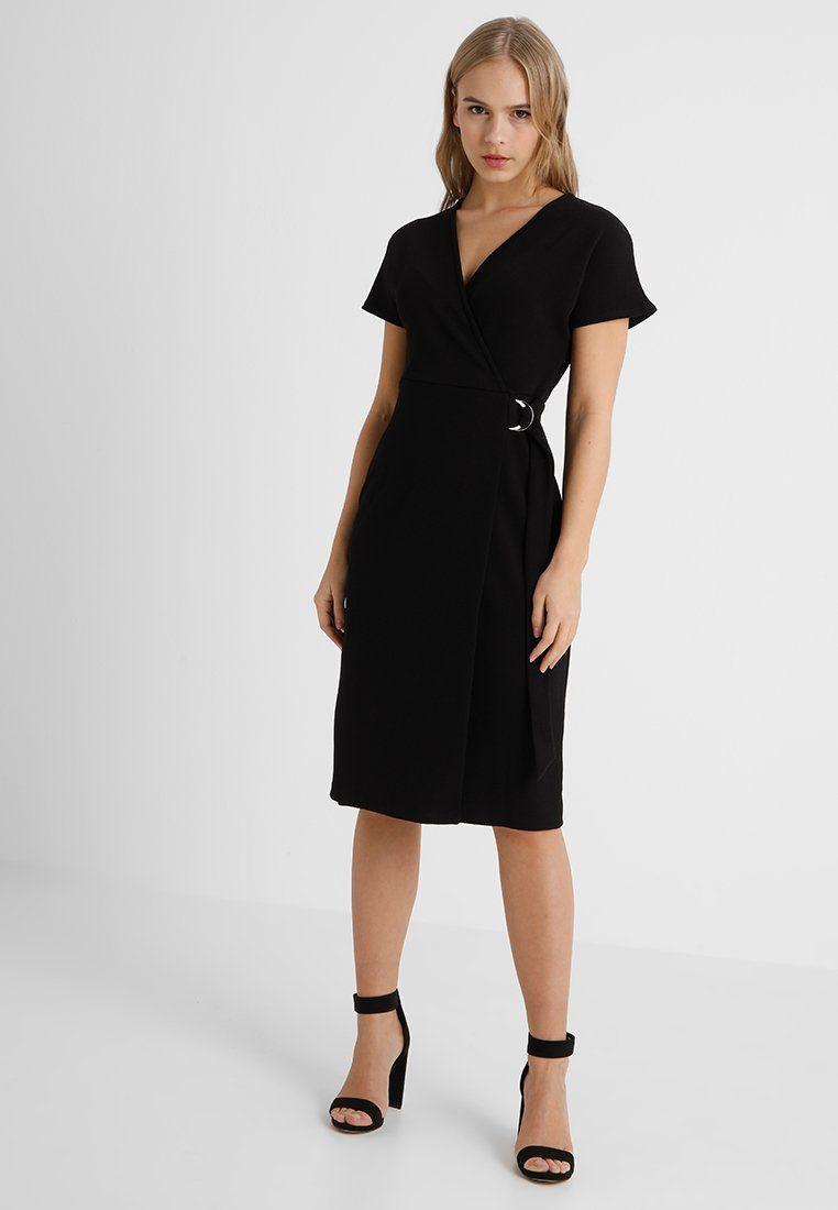 9d77698c7f35 Dorothy Perkins Petite RING WRAP DRESS - Vestito estivo - black - Zalando.it