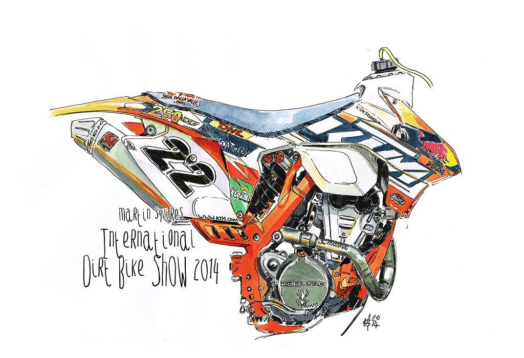 Jonny Walker Ktm 250exc Bike Drawing Ktm Ktm Motocross
