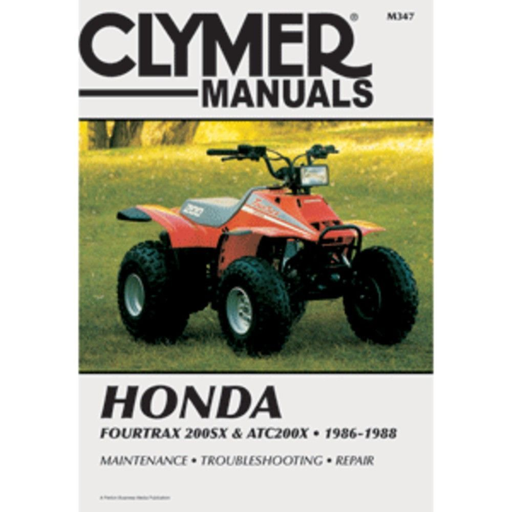 Honda Fourtrax and ATV repair manuals are written specifically for the  do-it-yourself enthusiast. From basic maintenance to troub