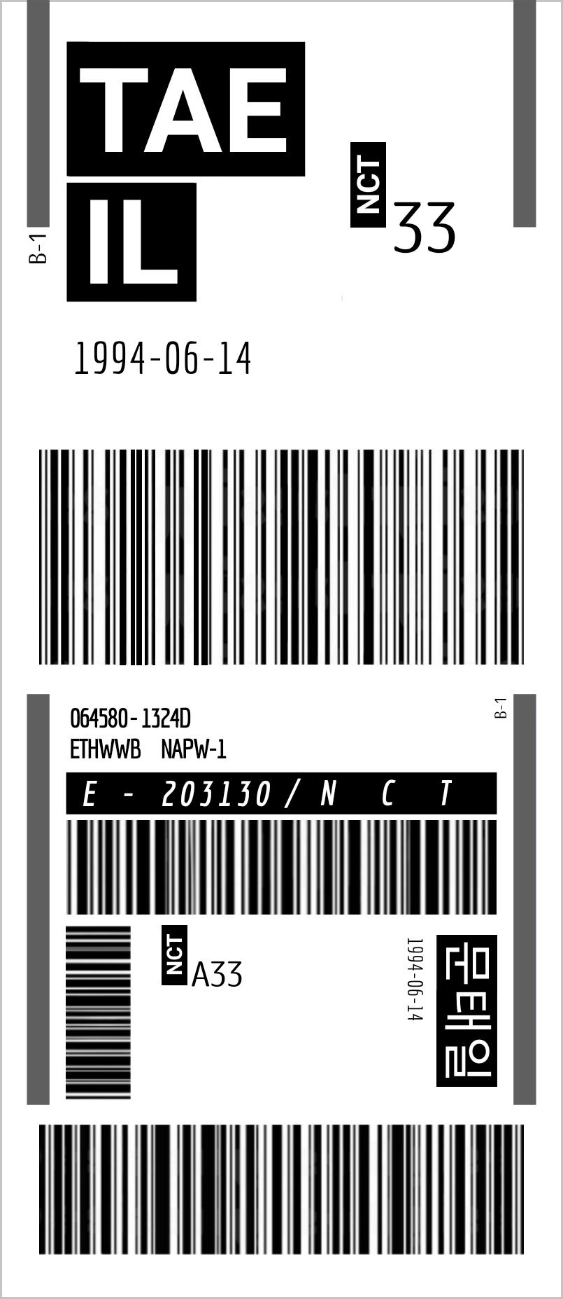 Nct Taeil Ticket
