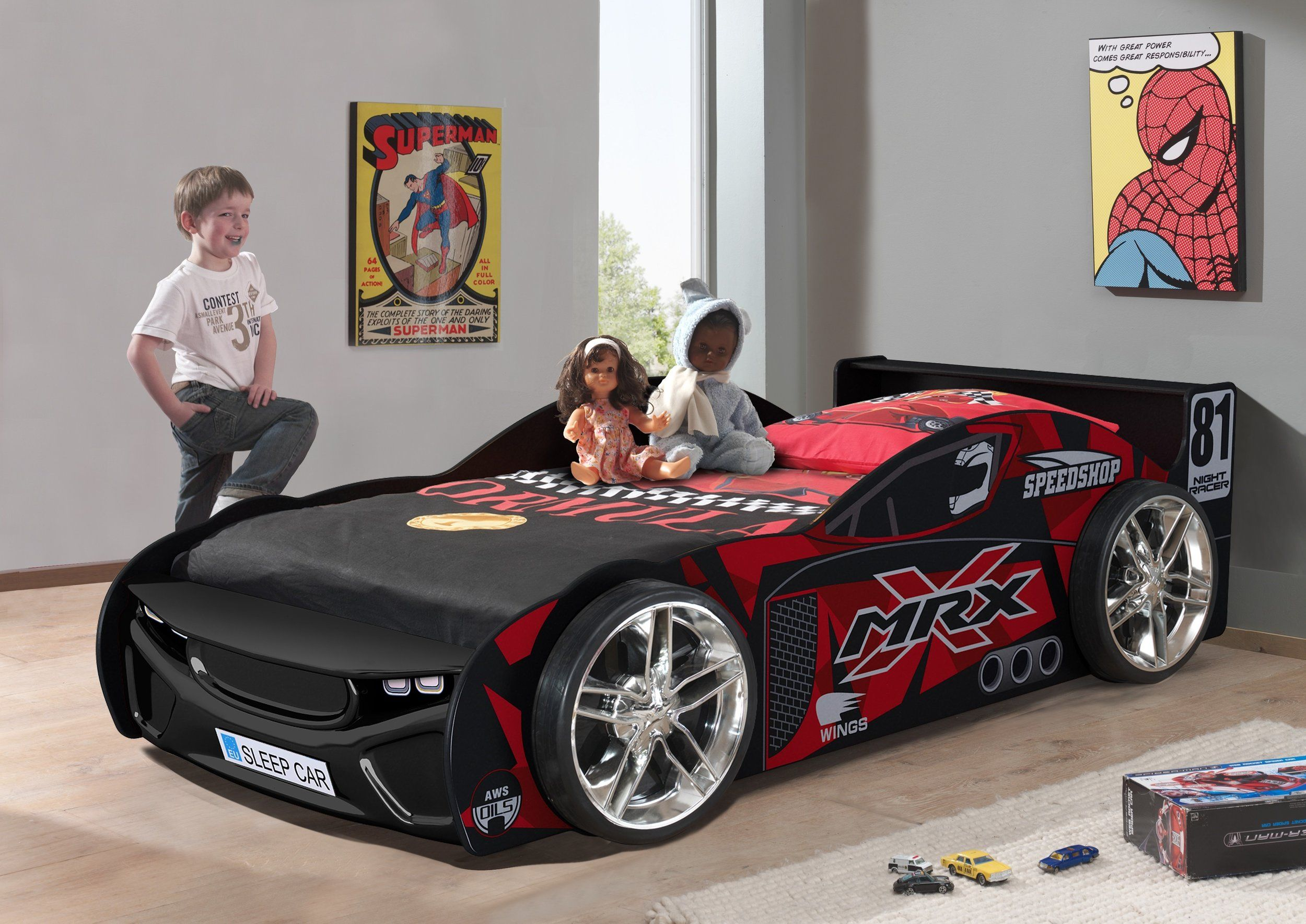 Show Off Your Style With Our Brand New Premium Race Car Beds Available In Black Red Or Pink With Kids Car Bed Race Car Bed Kid Beds