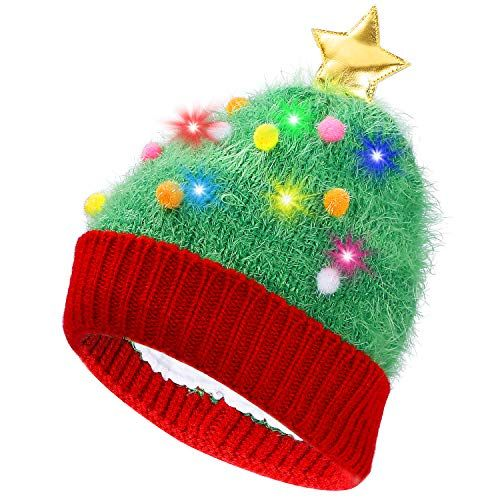 20c1c95dc00 Chic PUMICE LED Light Up Beanie Colorful LEDs Hat Women Children Indoor  Outdoor