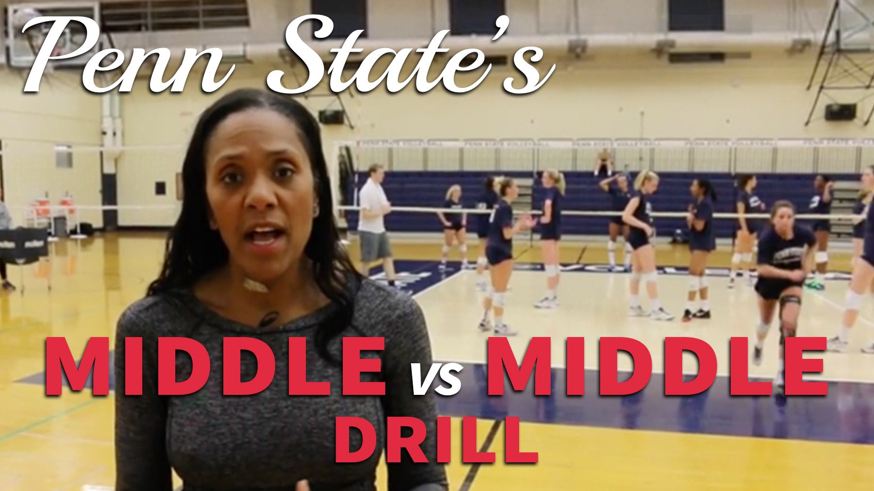 Penn State S Middle Vs Middle Drill The Art Of Coaching Volleyball In 2020 Volleyball Workouts Coaching Volleyball Volleyball Practice