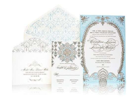 Whitehall Wedding Invitations, Ceci New York for The Breakers