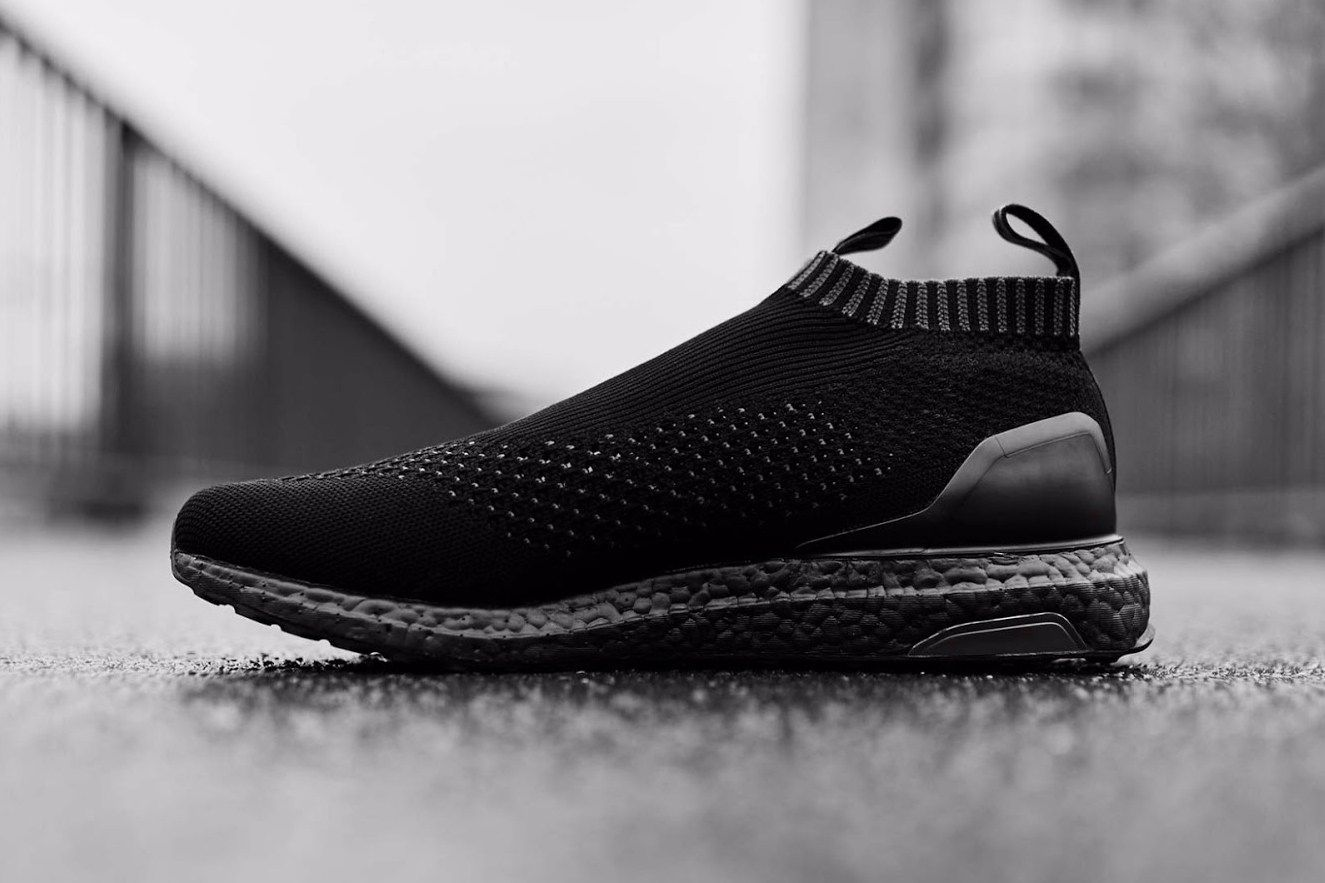 A Closer Look At The Adidas Ace16 Ultraboost Triple Black Adidas Originals Fashion Triple Black Ultra Boost Triple Black