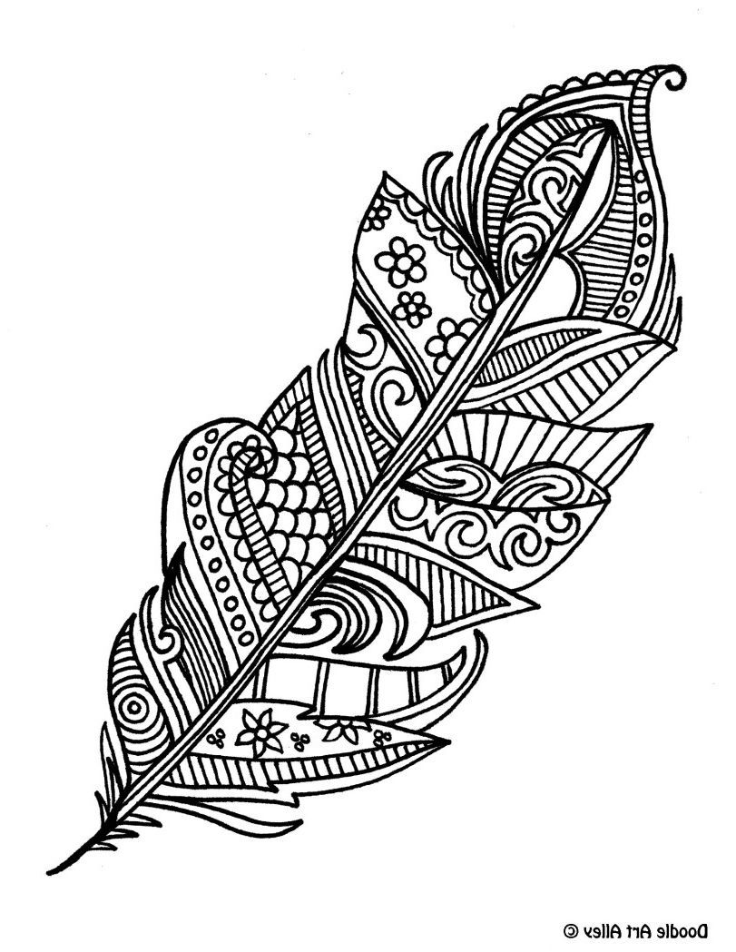 Feathers Coloring Pages Coloring Page Coloring Pages Coloring Pages Mandala Drawing Elephant Coloring Page