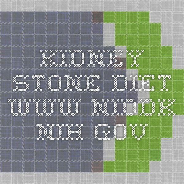 Kidney Stone Diet www.niddk.nih.gov