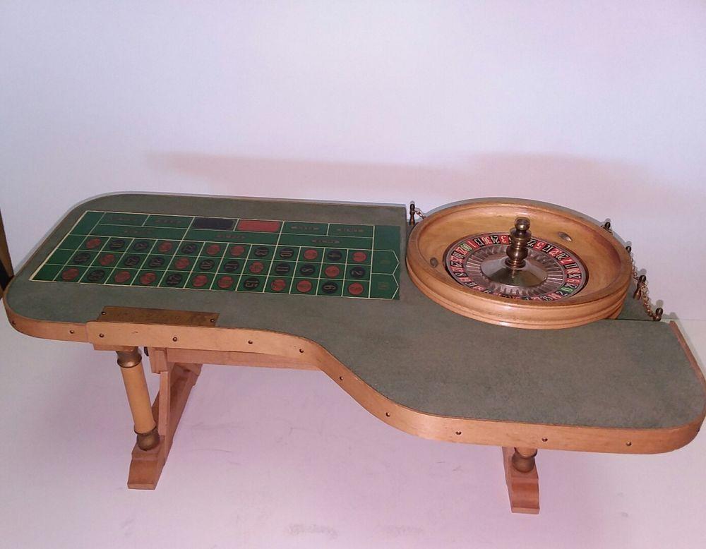 Vintage Las Vegas Wilbur Clark S Desert Inn 17 Mini Roulette Table Roulette Table Wooden Games Selling Antiques