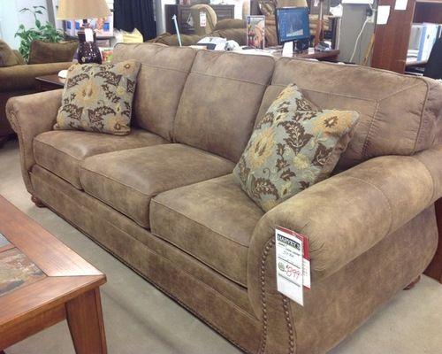Distressed Leather Sofa