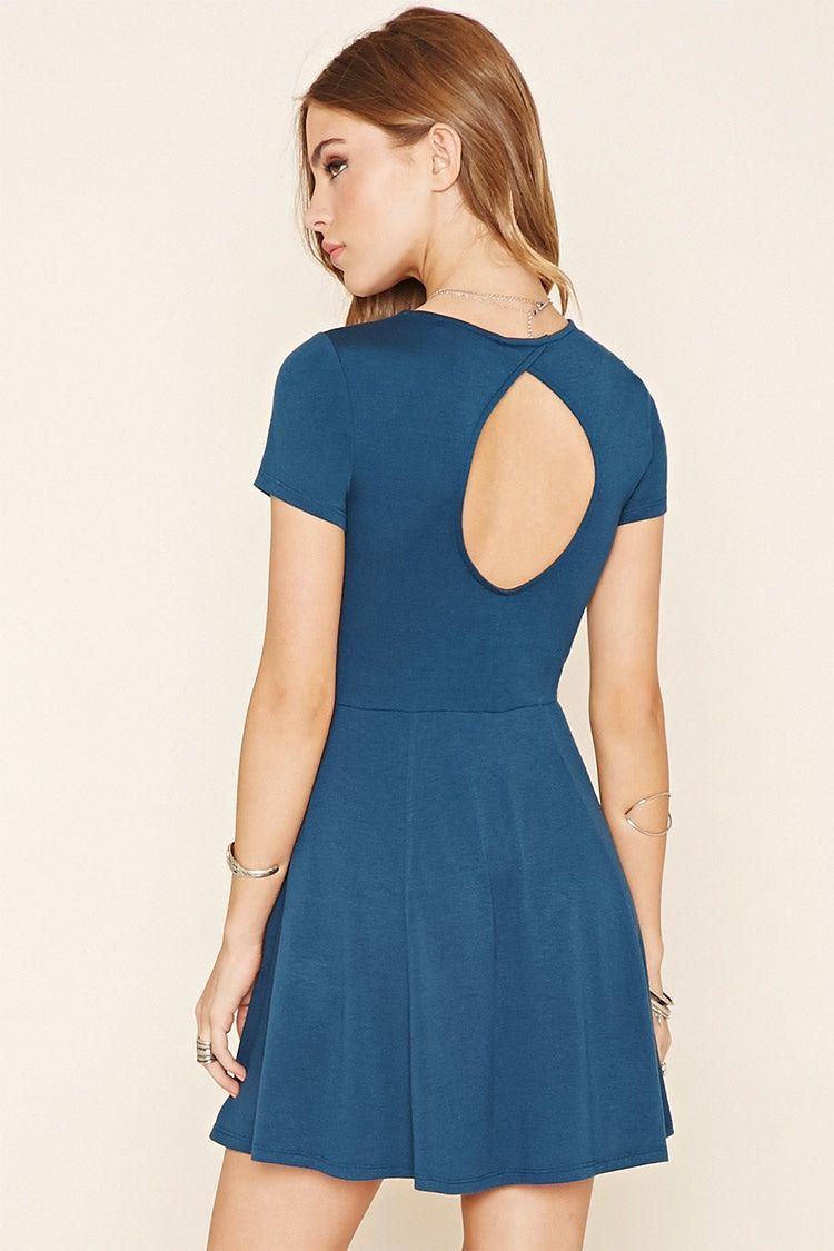 Stretch Knit Skater Dress | Forever 21 - 2000238147 | Costumes ...