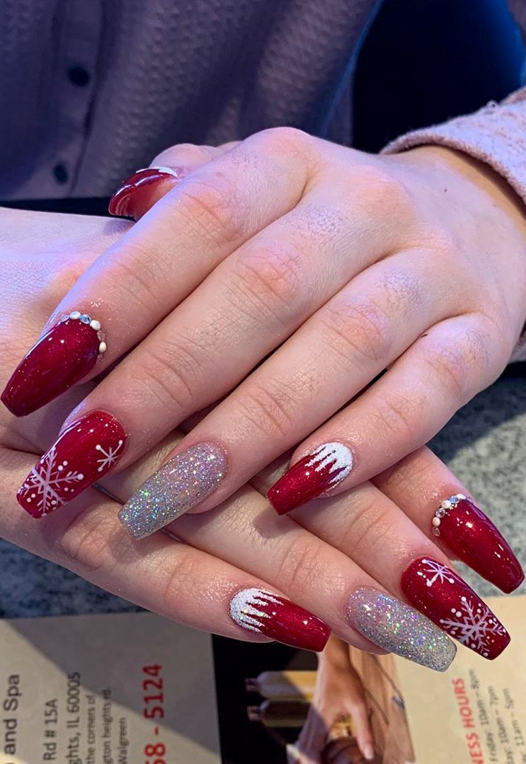 38 Christmas Awesome Nails Design And Decoration Ideas Part 36 Christmas Nails Acrylic Nail Designs Christmas Nails