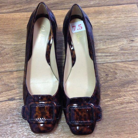 Cole Haan tortoise shell kitten heels Great used condition! Cole Haan Shoes Heels