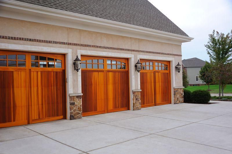 C H I Flush Carriage House Garage Door Cedar Accent Woodtones Carriage Garage Doors Garage Doors Garage Door Styles