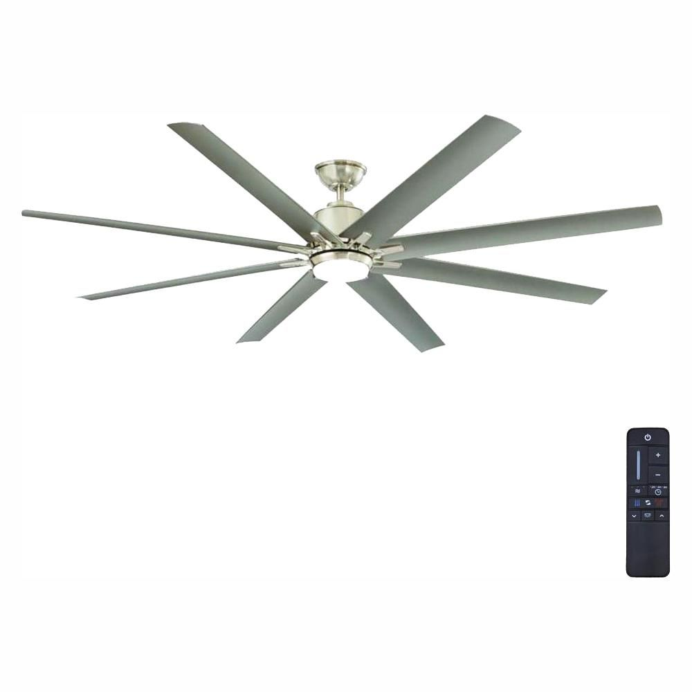Home Decorators Collection Kensgrove 72 In Integrated Led Indoor Outdoor Brushed Nickel Ceiling Fan With Light Kit And Remote Control Yg493od Bn The Home Dep Ceiling Fan With Light Ceiling Fan Fan Light