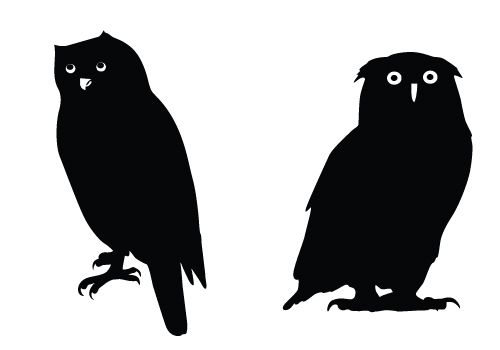 Owl Silhouette Vector Graphics Free Download Owl Vectors Owl Silhouette Animal Silhouette Silhouette Vector