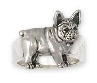 French Bulldog Ring Handmade Sterling Silver Dog Jewelry FR25-R