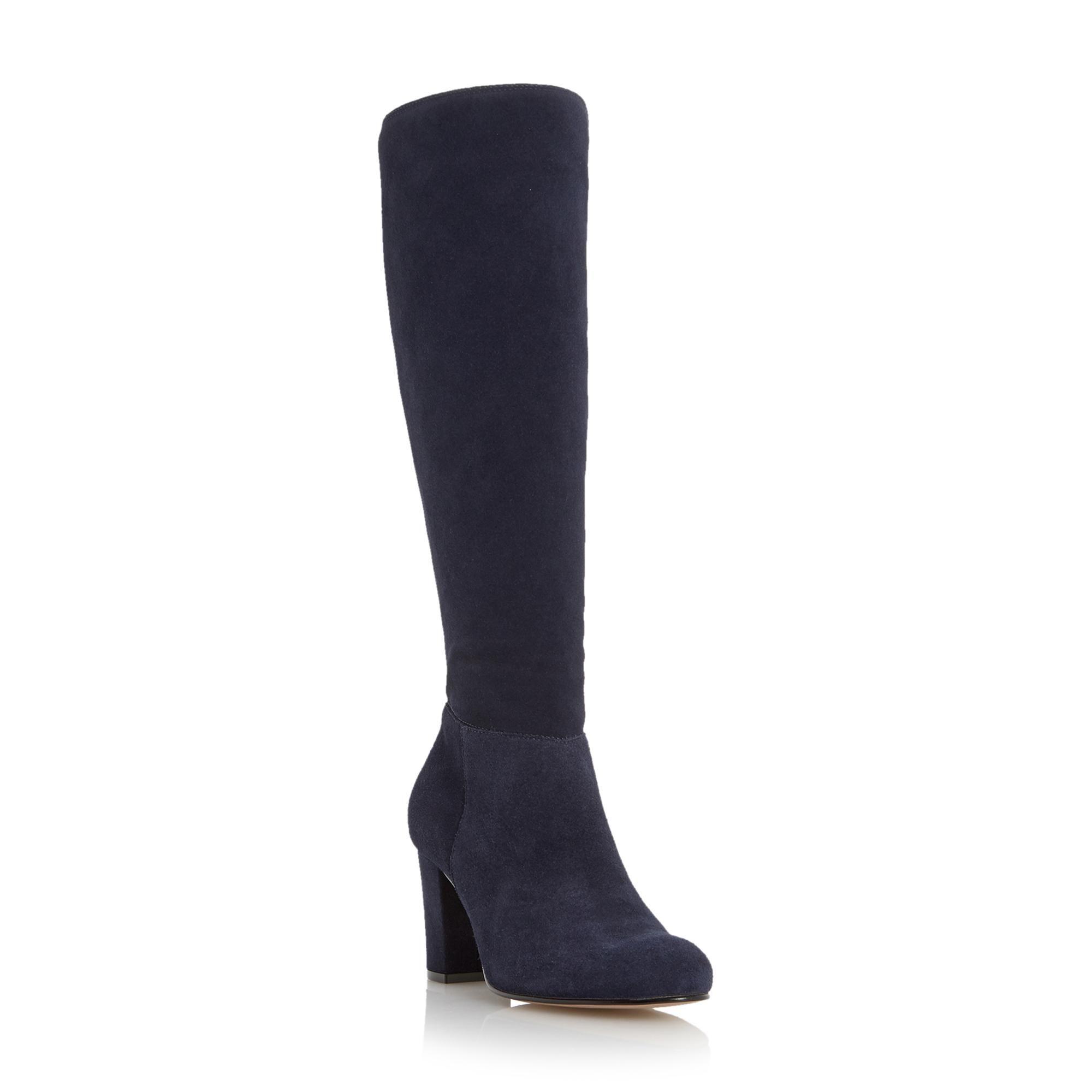 Dune Shoes Online | Blue suede boots