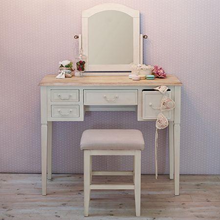 livingut: Dresser set antique-like BROCANTE whitewood 92cm ...