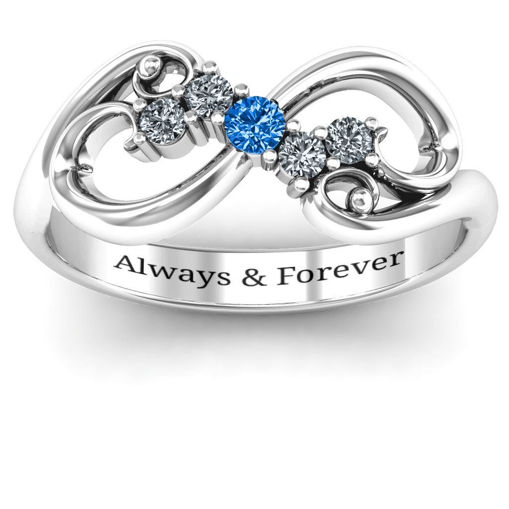 Trendy Sterling Silver Infinity Rings Wide Lace Weaving Women Promise Rings