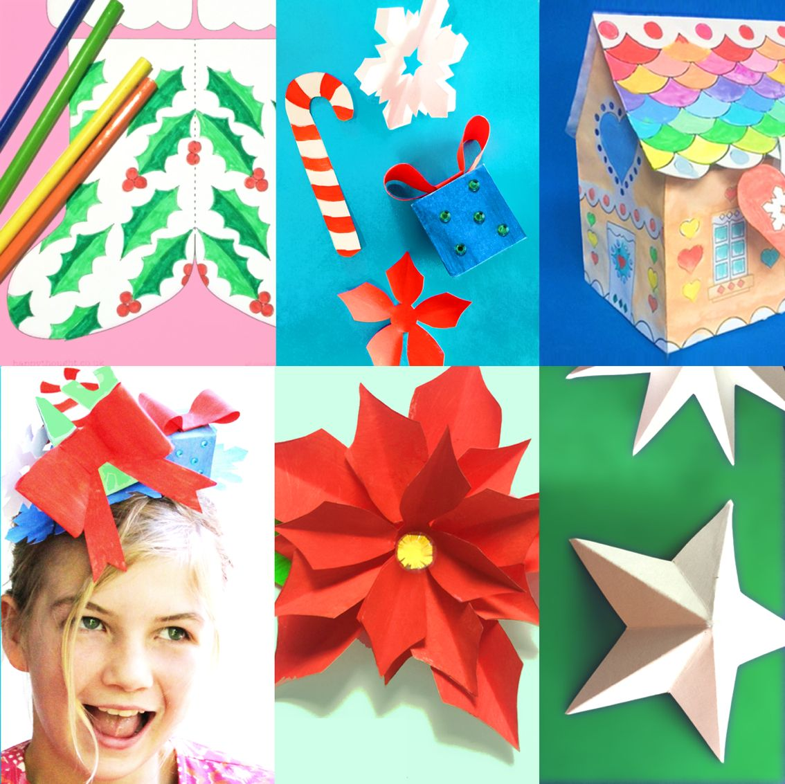 Print Festive Holiday Craft Worksheets Fun Printable Kids