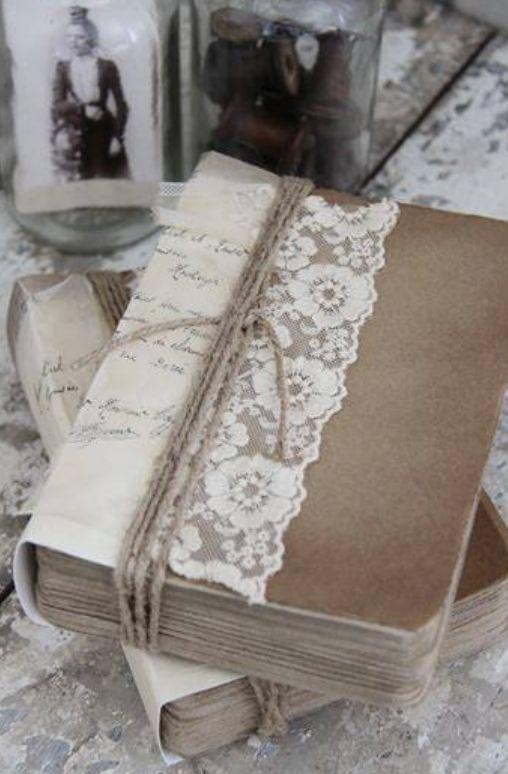 Retro Book Cover Tutorial : Vecchi merletti idee super per poterli riciclare da
