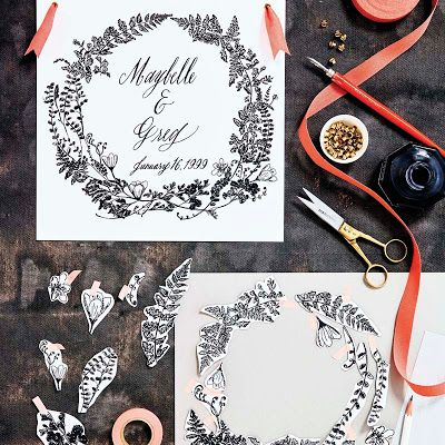 Photo of DIY + Giveaway | The Gift of Calligraphy | Botanical Wreath Illustrations