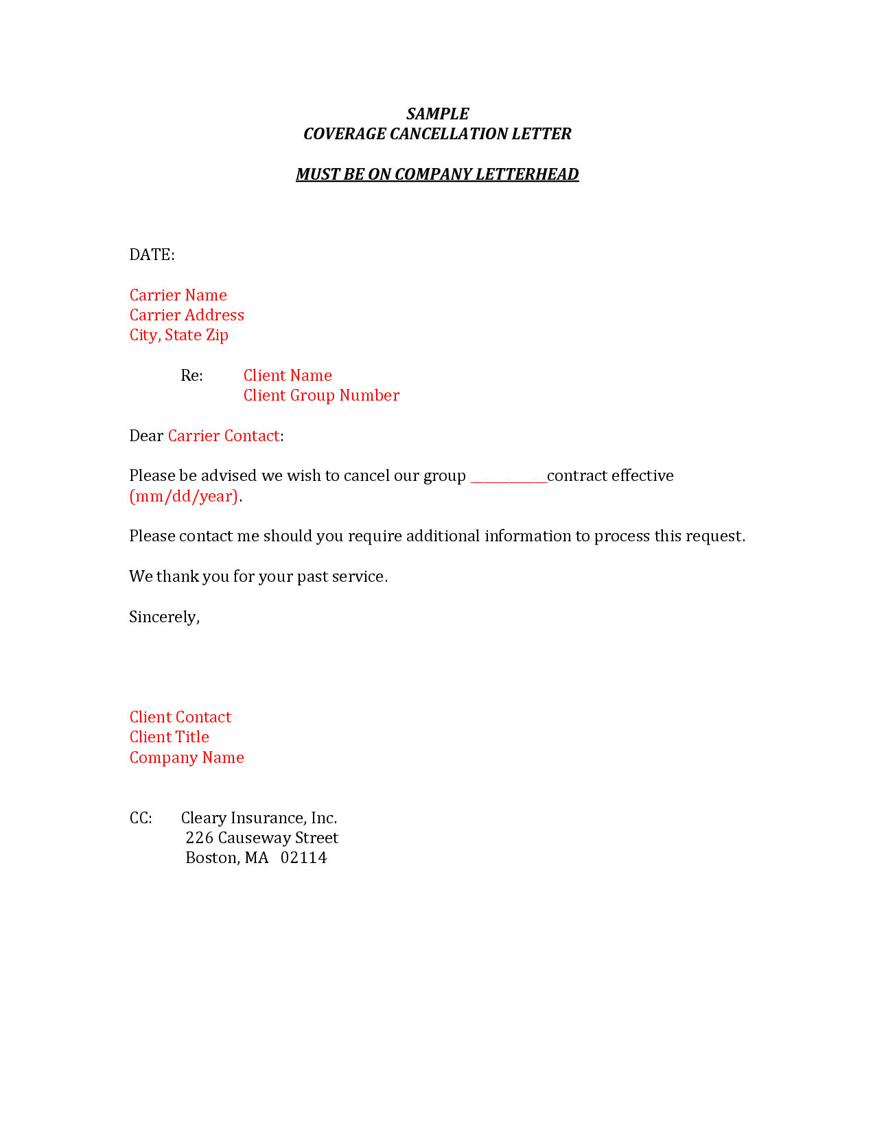 Request Letter Sample Insurance Cancellation Dental Appeal