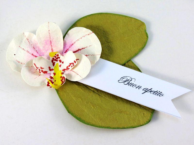 Segnaposto Matrimonio Orchidea.6 Segnaposto Orchidea Dipinto A Mano Decorazione Di Ceebee Su