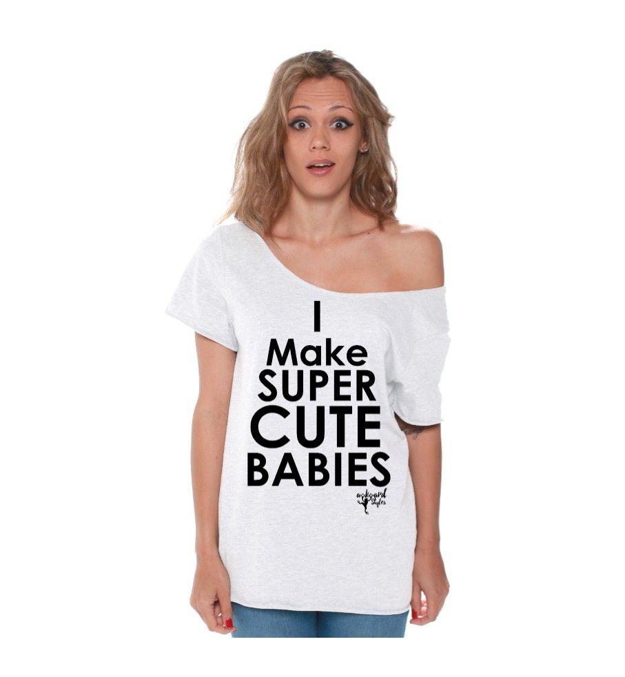 I make super cute babies off shoulder t shirt shoulder for T shirt printing for babies
