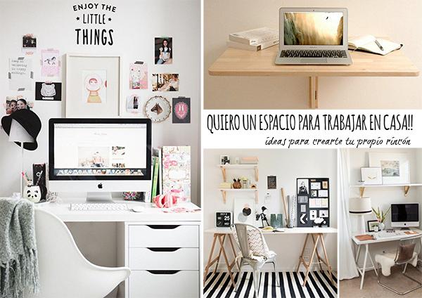 10 ideas para crea tu propio espacio para trabajar en casa