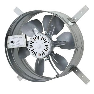 Iliving 14 In Variable Speed Gable Mount Attic Ventilator Fan With Adjustable Thermostat 3 10 Amp Ilg8g14 12t The Home Depot Attic Fan Thermostat Fan