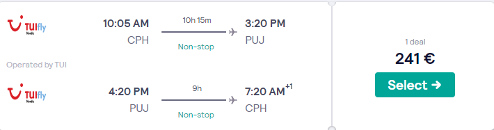 Last Minute Flight From Copenhagen To Dominican Republic For 241 Price Drop Trip Advisor Travel Deal Hot Travel