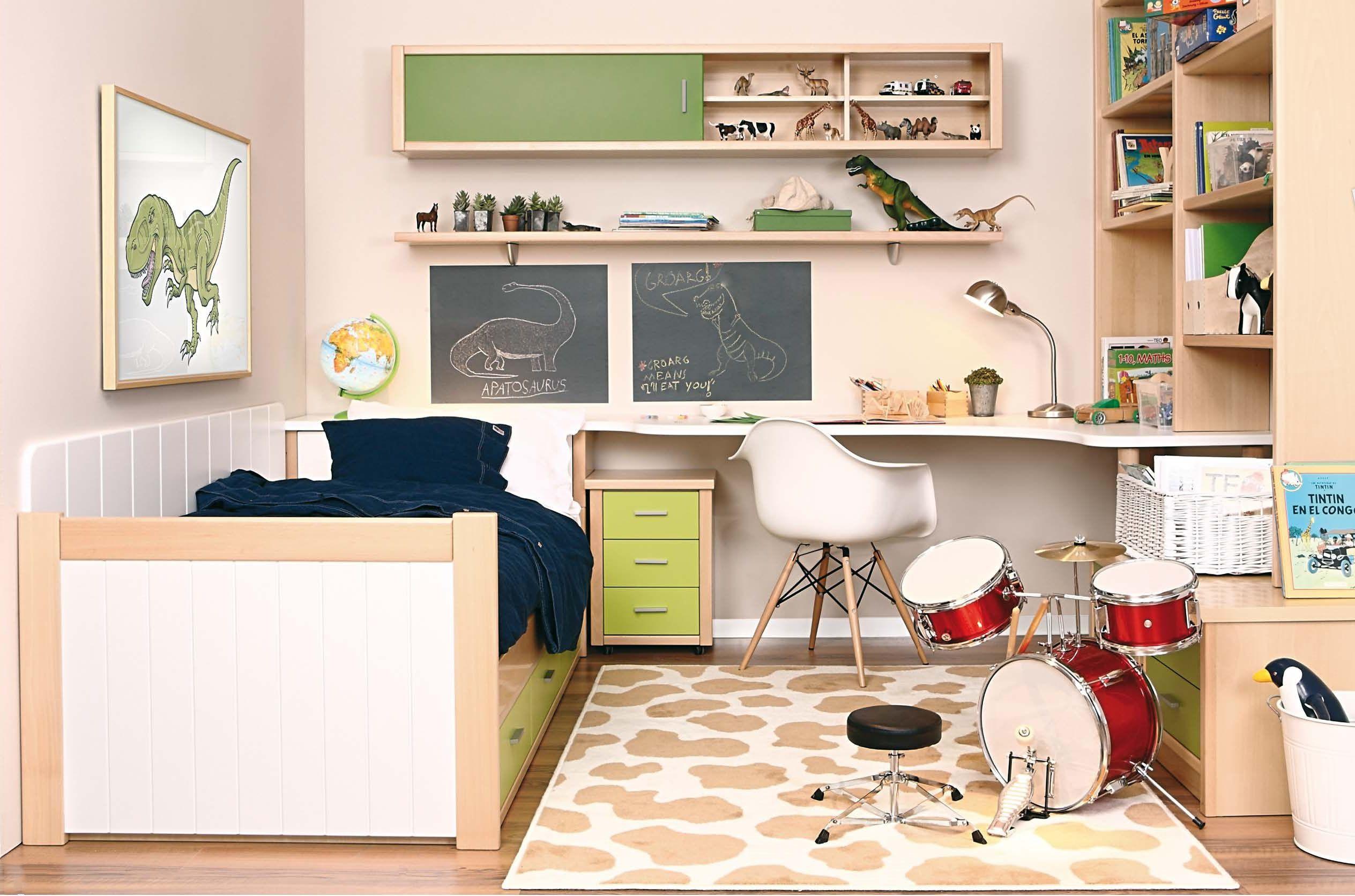 habitacion cama nido tres secciones escritorio en frisoes