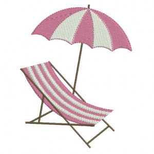 motif de broderie machine transat et parasol de plage. Black Bedroom Furniture Sets. Home Design Ideas