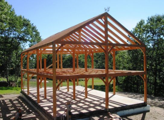 Post And Beam Construction Building Timber Frame Plans Timber Frame Barn Timber Frame Homes