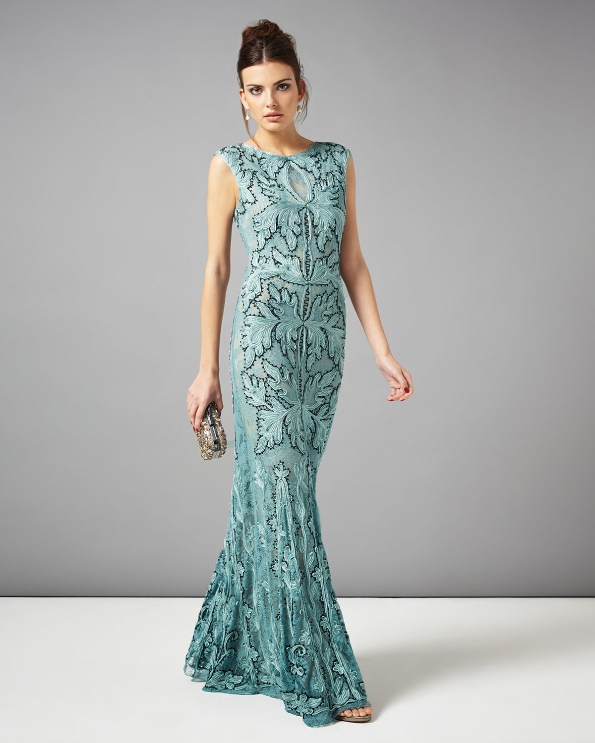 Dresses | Blue Paige Tapework Full Length Dress | Phase Eight ...