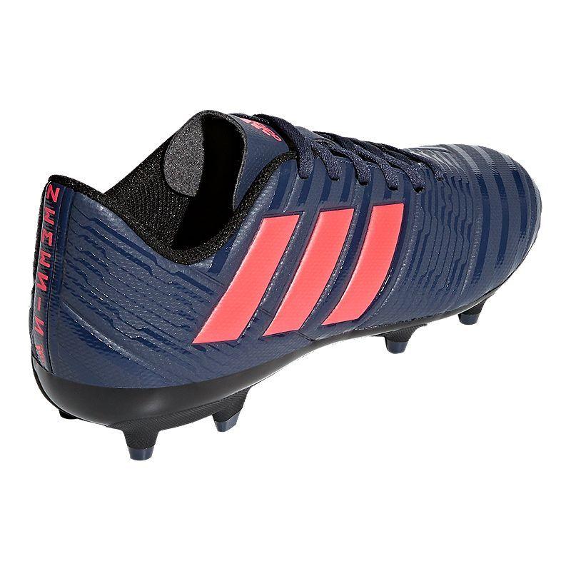 1904ede76 adidas Women's Nemeziz 18.4 FG Outdoor Soccer Cleats - Blue/Red